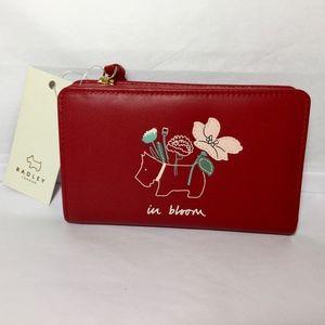 Radley London IN BLOOM Red Bi-Fold Card Wallet